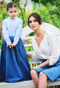 family look from 995.brand #995nojeans #995fashion #jeansskirt #skirt #fashion #style #familylook