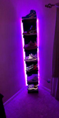 Neon Bedroom, Bedroom Setup, Room Design Bedroom, Room Ideas Bedroom, Diy Bedroom, Bedroom Wall, Rock Bedroom, Gamer Bedroom, Girl Bedroom Designs