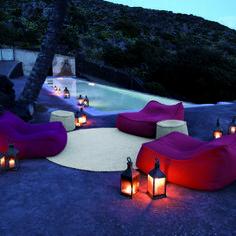 Luxury outdoor armchairs