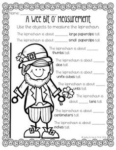 Measuring Leprechauns - Activities for St. Patrick's Day