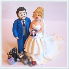 Polymer Clay Handmade Personalised Wedding Cake by DesignsByDenisa