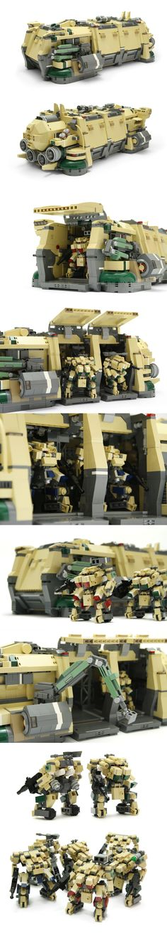 Lego Ninjago, Lego Robot, Lego Army, Lego Military, Legos, Lego Mechs, Lego Bionicle, Amazing Lego Creations, Lego Ship