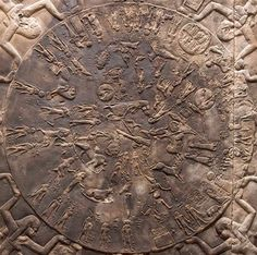 "The Mayan astronomy also share the same clock, calendar, the Denderah Zodiac existed thousands of years before Greeks even existed, it was discovered above on the ceiling in the temple of Hathor, real name A-theer, means ""the Dwelling or house of Haru (Horus) Hathor is Greek name, found in Tama-re, which means ""land of Sun"" (Africa) the calendar is the 12 Zodiacal houses, occupying a distance"