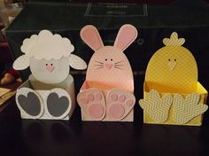 Give Them Something Special With a Personalized Easter Basket Easter Baskets by – Cards and Paper Crafts at Splitcoaststampers - - Easter Projects, Easter Crafts For Kids, Easter Baskets Craft, Easter Art, Easter Bunny, Happy Easter, Spring Crafts, Holiday Crafts, Ostern Party