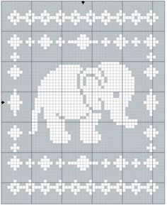 Crochet Square Patterns Filet Elephant Blanket Crochet Pattern - The Lavender Chair - Get the Filet Elephant Blanket crochet pattern here! This blanket works up quickly and easily and includes a chart to aid you in the process. Crochet C2c, Point Granny Au Crochet, Crochet Patterns Filet, Crochet Giraffe Pattern, Fillet Crochet, Manta Crochet, Granny Square Crochet Pattern, Baby Blanket Crochet, Crochet Baby
