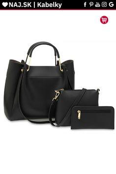 Kabelka do ruky čierna AG00610 Shopper Bag, David Jones, Zara, Shoulder, Fashion, Moda, Fashion Styles, Fashion Illustrations