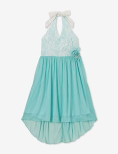Speechless Hi-Lo Lace Halter Dress – Girls 7-16