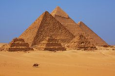 The Pyramids In Egypt Photograph - The Pyramids In Egypt Fine Art Print