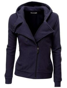 Cozy Fleece Zip Up Navy #Jacket
