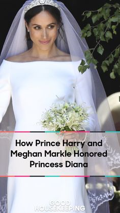 Meghan's bouquet included Forget-Me-Nots, which were Diana's favorite flower. See all the other sweet ways Prince Harry and Meghan Markle honored Princess Diana at the Royal Wedding today. #RoyalWedding #RoyalWeddingParty #MeghanMarkle #PrinceHarry #MeghanMarkleandPrinceHarry #RoyalWeddingWatchParty #MeghanMarkleStyle #MeghanMarkleHair #RoyalWeddingTiara #RoyalCouples #PrincessDiana