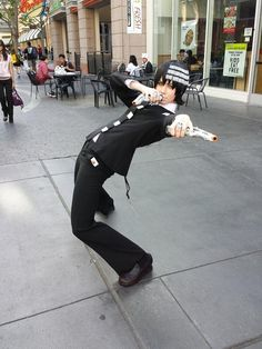 """Death The Kid Soul Eater Cosplay. I bet the people in the back are like """"What is wrong with this kid??"""""""