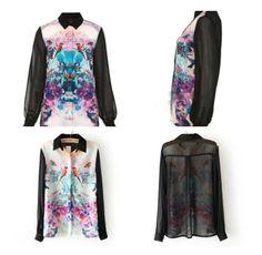 Asos oriental printed blouse