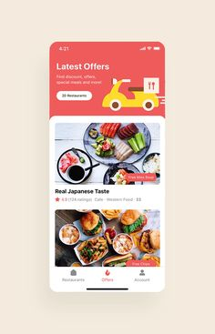Happy Meals Food Delivery App UI Kit is a pack of delicate UI design screen templates that will help you to design clear interfaces for food delivery app faster and easier. Compatible with Sketch App, Figma & Adobe XD Restaurant App, Restaurant Offers, Delivery App, Delivery Food, Japanese Taste, Web Ui Design, Mobile App Ui, Resume Design Template, Ui Elements