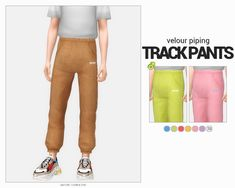 velour piping track pants - Source by tezcan_tk outfits for teens Sims Four, Sims 4 Mm Cc, Sims 4 Cas, My Sims, Matching Outfits, Outfits For Teens, Diy Denim, Sims 4 Cc Kids Clothing, Sims 4 Children