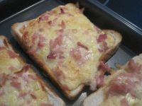 Bacon and Cheese Toast