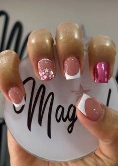 Hello Nails, White Tip Nails, Nails For Kids, Fire Nails, Nail File, Perfect Nails, Short Nails, Beauty Nails, Glitter Nails
