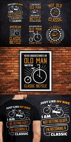 #Classic Bicycle #T-Shirt Badge - #Badges & Stickers Web Elements