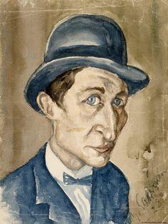 Yrjö Saarinen 1928 Studio Portraits, Watercolors, Painting, Artists, Mirror, Museum, Hat, Characters, Board