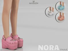 Nora Shoes for The Sims 4 Sims 4 Cc Packs, Sims 4 Mm Cc, Sims Four, Sims 4 Cc Kids Clothing, Sims 4 Mods Clothes, Maxis, Platform Crocs, Sims 4 Toddler, Sims Baby