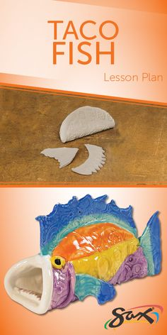 This clay lesson plan allows for creative fish construction. Lesson plan includes objectives materials list (makes at least 24 projects) correlations to national standards grade levels and cross-curricular subjects. Developed especially for Sax. Clay Projects For Kids, Kids Clay, Smash Book, Art Doodle, Sculpture Lessons, Pottery Classes, Ceramics Projects, Wow Art, Art Lessons Elementary