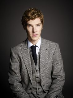 Benedict Cumberbatch from BBC Sherlock with his natural red hair!