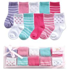 Luvable Friends Baby Socks Gift Set Pink 09 Months -- You can find out more details at the link of the image. Girls Socks, Baby Socks, Baby Shower Gifts, Baby Gifts, Baby Vision, Clear Gift Boxes, Cute Socks, Patterned Socks, Baby Clothes Shops