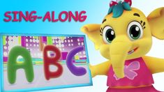 Emmie - Abcd Song Sing Along Hula Hoop Song, Rhymes Collection, Kids Songs, Nursery Rhymes, Singing, Elephant, Children, Baby, Animals