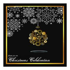 steampunk christmas party invitation - click/tap to personalize and buy
