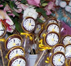 Pirulito Chocolate Relógio | Bela Festança | 31AD8A - Elo7