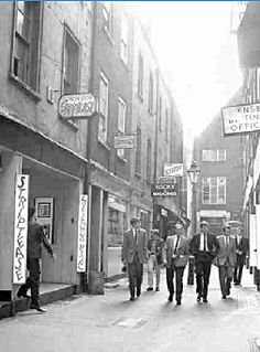 A typical Soho street scene in the early 1960s