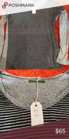 NWT Velvet Grey Black Stripe Long Sleeve$136 USA NWT Velvet Grey Black Stripe Long Sleeve$136 USA Velvet Tops Tees - Long Sleeve