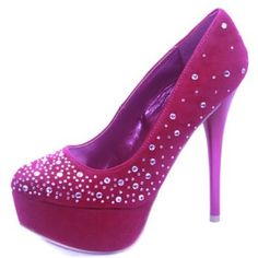 Qupid Parallel-02 Rhinestone Studs Platform Shoes $39.99