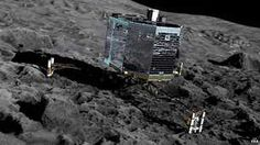 Artist's impression of Philae on the surface of Comet 67P
