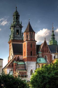 The Gothic Wawel Castle in Kraków, Poland