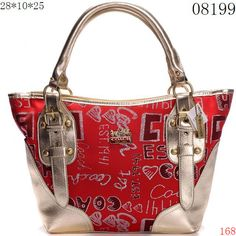 Coach Shoulder Bags Red / Golden Bottom and Strips [CO29859] - $59.99 : Cheap Coach Purse, Discount Coach Handbags and Coach Bags On Sale at Coach Outlet Store.,  #cheapwholesalehub
