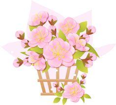 桃の花 イラスト - Google 検索