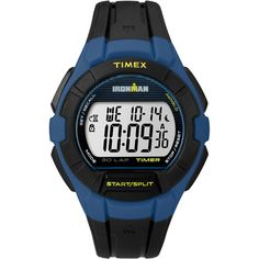 Timex IRONMAN Essential 30 Full-Size Watch - Blue-Yellow [TW5K957009J]