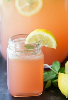Chick-Fil-A Copycat Watermelon Mint Lemonade from SixSistersStuff.com   Refreshing and Delicious Non-Alcoholic Summer Drink for your 4th of July Barbecue or Party   Kid Approved Drink Recipes