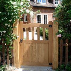 The Finest Automated Oak Gates Backyard Gates, Garden Gates And Fencing, Backyard Sheds, Backyard Retreat, Fences, Wooden Garden Gate, Rustic Garden Decor, Wooden Gates, Garden Entrance
