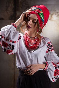 """Woman embroidery """"Kvity zori"""" buy in the online store Women's clothing at the best price from the manufacturer. Ethnic Fashion, Boho Fashion, Fashion Outfits, Fashion Design, Traditional Fashion, Traditional Outfits, Ukrainian Dress, Moda Boho, Embroidered Blouse"""