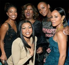 Pin for Later: 30 Photos From the NAACP Image Awards That You Need to See Now Pictured: Jada Pinkett Smith, Taraji P. Henson, Gabrielle Union, Tika Sumpter, and Loretta Devine Black Actresses, Black Actors, Black Celebrities, Celebs, Black Girls Rock, Black Girl Magic, Tika Sumpter, Taraji P Henson, Black Sisters