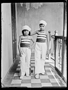Unknown Artist (Senegal) 'Two Girls, Indoors' c. 1915 Gelatin silver print from glass negative, 2015 2 x 3 in (5.7 x 7.6 cm)
