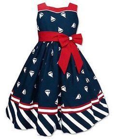Jayne Copeland Kids Dress Little Girls Sailboat Clothing -for allysia Little Dresses, Little Girl Dresses, Cute Dresses, Girls Dresses, Pageant Dresses, Little Girl Fashion, Toddler Fashion, Kids Fashion, Toddler Dress