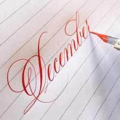 "2,478 Likes, 99 Comments - Suzanne Cunningham (@suzcunningham) on Instagram: ""Hello, December! . #calligraphy #calligraphymasters #december #winter #winsorandnewton…"""