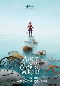 Disney released two teaser posters for the Alice in Wonderland sequel, Alice Through the Looking Glass. The new posters feature Johnny Depp as the Mad Hatter and Mia Wasikowska as Alice. Mia Wasikowska, Johnny Depp, New Movies, Movies To Watch, Good Movies, 2016 Movies, Movies Online, Latest Movies, Awesome Movies