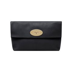Clemmie Clutch Glossy Goat in Black | Family | Mulberry