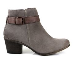 This new addition to our ankle boot family has a flattering cut with a single strap around the ankle.  Fitting close to the leg, it works perfectly with skinny or boyfriend jeans. The mid-height heel will give you a bit of lift and still feel wonderfully comfortable at the end of a long day. Your go-to ankle boot this autumn. Made from soft, water repellant suede. http://sevenbootlane.com/collections/boots/products/calista-charcoal-suede