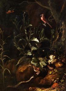 Otto Marseus Snuff. Van Schrieck - Grosses Stilleben Mit Zwei Schlangen, Kröte, Spinne Und Anderenkleintieren