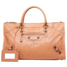Pre-owned Balenciaga Giant 12 Rose Gold Work Rose Blush Tote Bag ($1,285) ❤ liked on Polyvore featuring bags, handbags, tote bags, rose blush, red tote bag, rosette purse, preowned handbags, rose purse and pre owned handbags