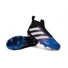 España Botas De Futbol Adidas ACE 16+ Purecontrol FG AG Azul Negro Blanco  Naranja 748987ef689c8